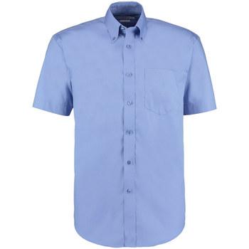 Textiel Heren Overhemden korte mouwen Kustom Kit KK109 Middenblauw