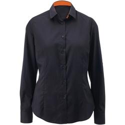 Textiel Dames Overhemden Alexandra AX060 Zwart / Oranje