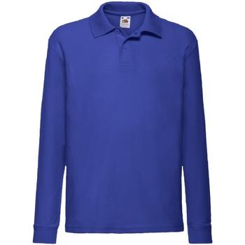 Textiel Jongens Overhemden lange mouwen Fruit Of The Loom 63201 Royaal Blauw
