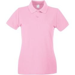 Textiel Dames Polo's korte mouwen Universal Textiles 63030 Baby Roze