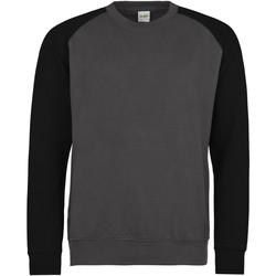 Textiel Heren Sweaters / Sweatshirts Awdis JH033 Houtskool/Jet zwart
