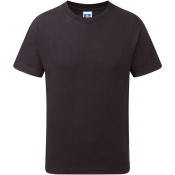 Textiel Jongens T-shirts korte mouwen Jerzees Schoolgear J155B Zwart
