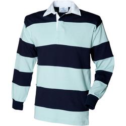 Textiel Heren Polo's lange mouwen Front Row FR08M Eendenei/navy