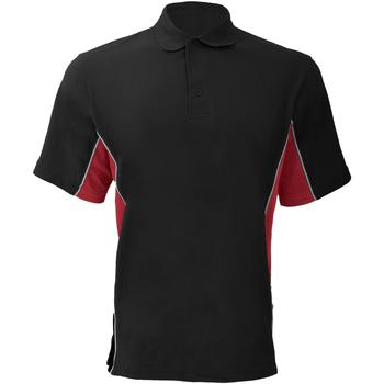Textiel Heren Polo's korte mouwen Gamegear KK475 Zwart/Rood/Wit