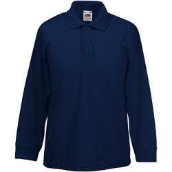 Textiel Jongens Overhemden lange mouwen Fruit Of The Loom 63201 Donker Marine