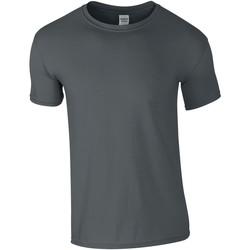 Textiel Heren T-shirts korte mouwen Gildan GD01 Houtskool