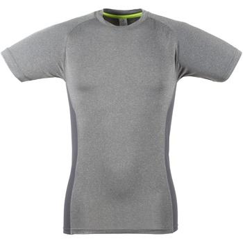 Textiel Heren T-shirts korte mouwen Tombo Teamsport TL515 Grijze mergel / Grijs