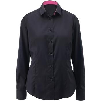 Textiel Dames Overhemden Alexandra AX060 Zwart / Roze