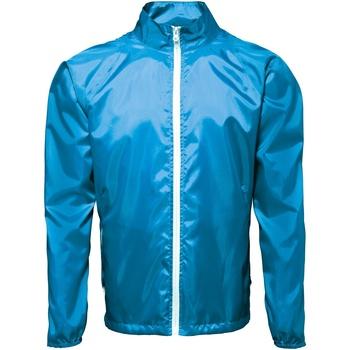 Textiel Heren Windjack 2786  Saffier/wit