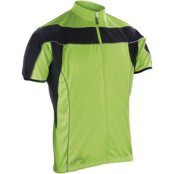 Textiel Heren Fleece Spiro S188M Zwart/Fluorescerende Kalk