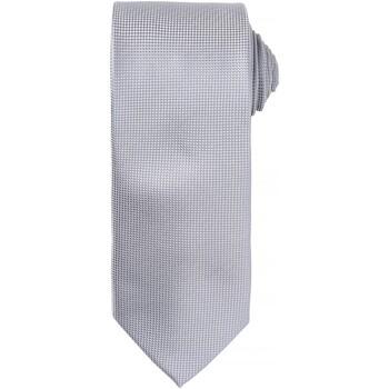 Textiel Heren Stropdassen en accessoires Premier Waffle Zilver