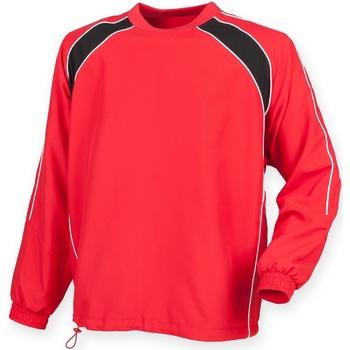 Textiel Heren Trainings jassen Finden & Hales LV845 Rood/ Zwart/ Wit