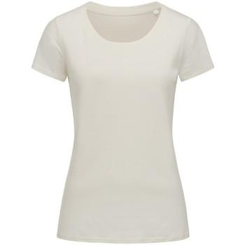 Textiel Dames T-shirts korte mouwen Stedman Stars  Winter Wit