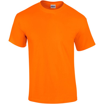 Textiel Heren T-shirts korte mouwen Gildan Ultra Veiligheid Oranje