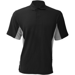 Textiel Heren Polo's korte mouwen Gamegear KK475 Zwart/Grijs/Wit