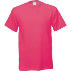 Textiel Heren T-shirts korte mouwen Universal Textiles 61082 Heet Roze