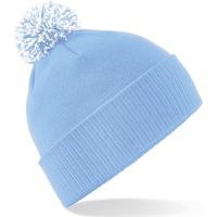 Accessoires Meisjes Muts Beechfield Snowstar Hemelsblauw/Wit