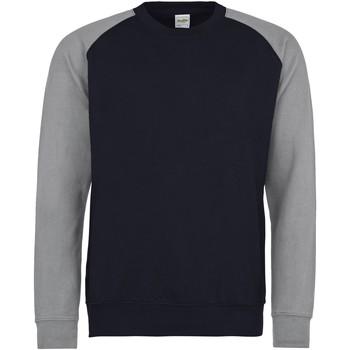 Textiel Heren Sweaters / Sweatshirts Awdis JH033 Marine Oxford / Heather Grey