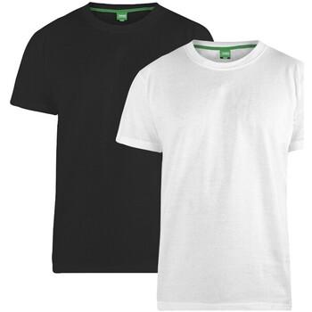Textiel Heren T-shirts korte mouwen Duke  Zwart/Wit