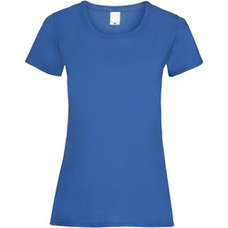 Textiel Dames T-shirts korte mouwen Universal Textiles 61372 Kobalt