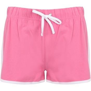 Textiel Dames Korte broeken / Bermuda's Skinni Fit SK69 Helder Roze/Wit
