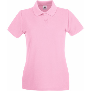 Textiel Dames Polo's korte mouwen Fruit Of The Loom 63030 Licht Rose