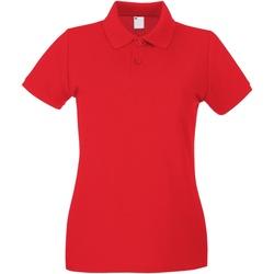 Textiel Dames Polo's korte mouwen Universal Textiles 63030 Helder rood