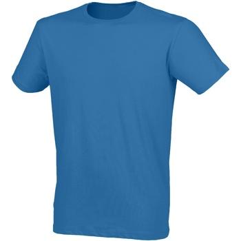 Textiel Heren T-shirts korte mouwen Skinni Fit SF121 Surf Blauw