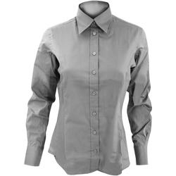 Textiel Dames Overhemden Kustom Kit KK702 Zilvergrijs