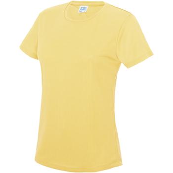 Textiel Dames T-shirts korte mouwen Awdis JC005 Sherbet Citroen