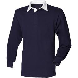 Textiel Heren Polo's lange mouwen Front Row FR100 Marine / Wit