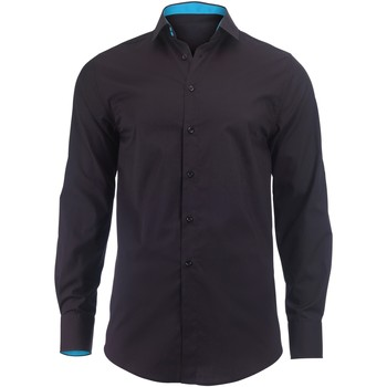 Textiel Heren Overhemden lange mouwen Alexandra Hospitality Zwart / pauw