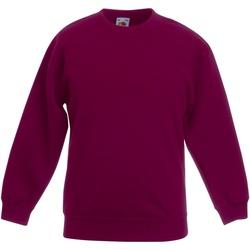 Textiel Kinderen Sweaters / Sweatshirts Fruit Of The Loom SS801 Bordeaux