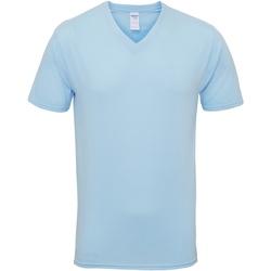 Textiel Heren T-shirts korte mouwen Gildan GD016 Lichtblauw