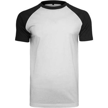 Textiel Heren T-shirts korte mouwen Build Your Brand BY007 Wit/zwart