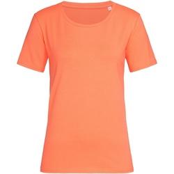 Textiel Dames T-shirts korte mouwen Stedman  Zalmroze