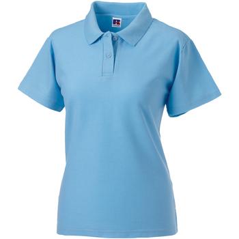 Textiel Dames Polo's korte mouwen Jerzees Colours 539F Hemelsblauw