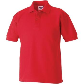 Textiel Jongens Polo's korte mouwen Jerzees Schoolgear 539B Helder rood