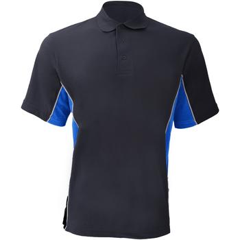 Textiel Heren Polo's korte mouwen Gamegear KK475 Marine / Lichtblauw / Wit