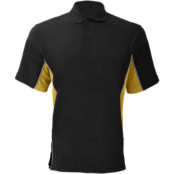 Textiel Heren Polo's korte mouwen Gamegear KK475 Zwart/Zon geel/wit