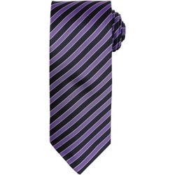 Textiel Heren Stropdassen en accessoires Premier PR782 Rijke Violet/Zwarte