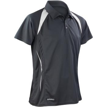 Textiel Heren Polo's korte mouwen Spiro S177M Zwart/Wit