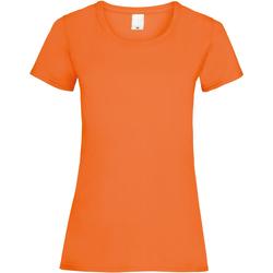 Textiel Dames T-shirts korte mouwen Universal Textiles 61372 Helder oranje