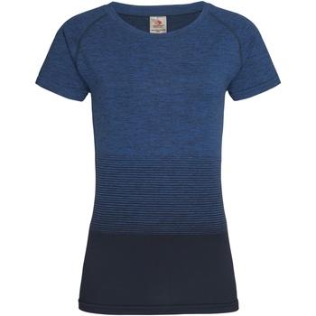 Textiel Dames T-shirts korte mouwen Stedman  Blauwe Overgang