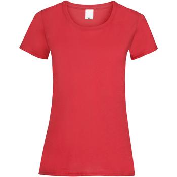 Textiel Dames T-shirts korte mouwen Universal Textiles 61372 Helder rood