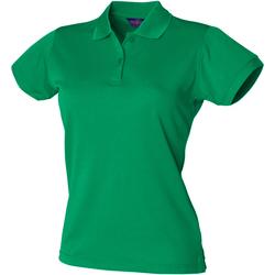 Textiel Dames Polo's korte mouwen Henbury Coolplus Kelly Groen