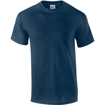 Textiel Heren T-shirts korte mouwen Gildan Ultra Heide-Marine