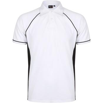 Textiel Heren Polo's korte mouwen Finden & Hales Piped Wit/zwart/zwart