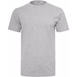 Textiel Heren T-shirts korte mouwen Build Your Brand Round Neck Heide Grijs