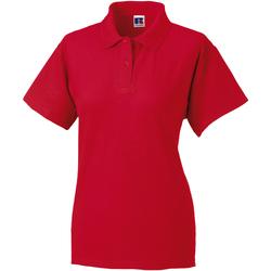 Textiel Dames Polo's korte mouwen Jerzees Colours 539F Klassiek rood